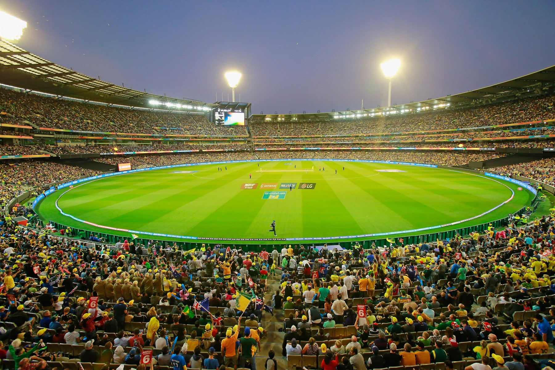 2015 ICC Cricket World Cup final match between Australia and New Zealand at the Melbourne Cricket Ground on March 29, 2015 in Melbourne, Australia.