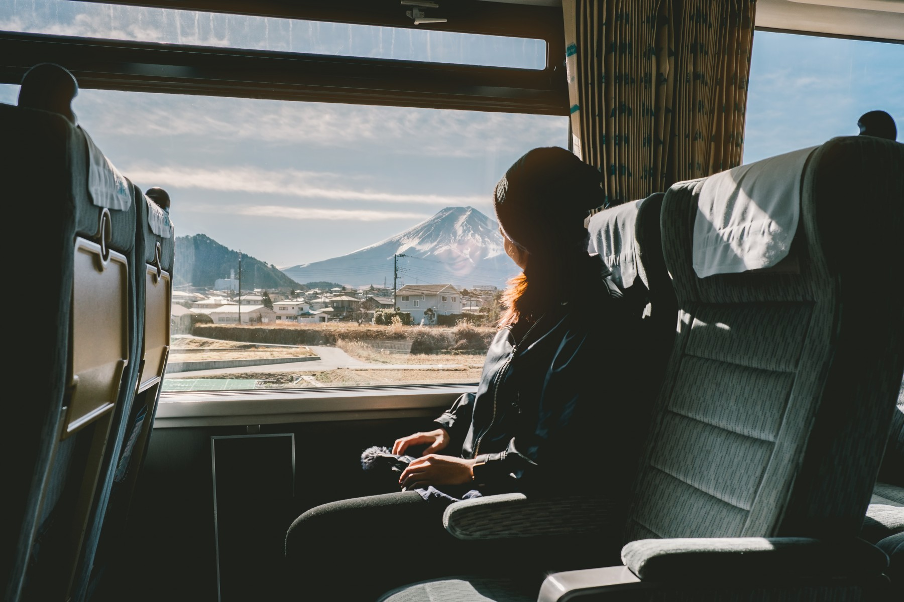 Mount Fuji view from the bullettrain