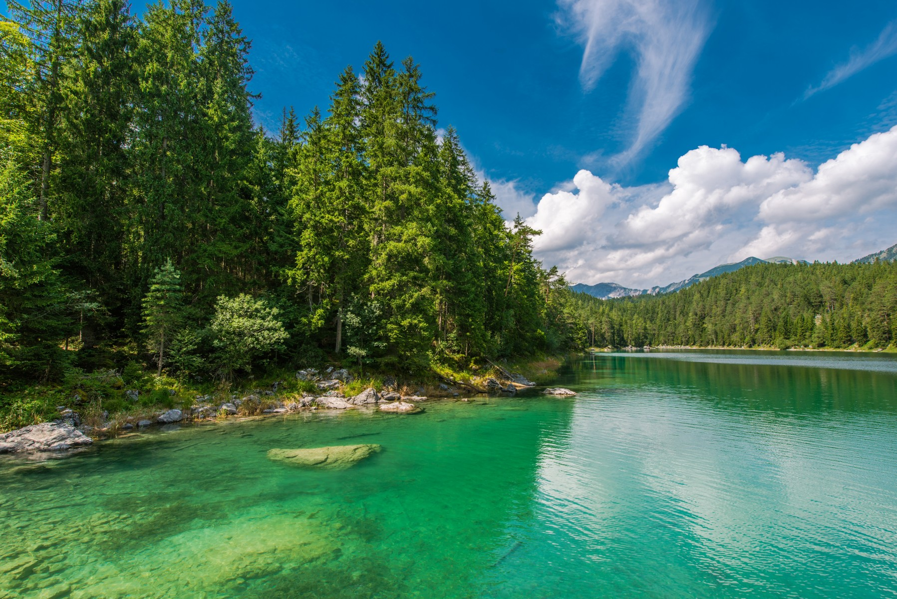 Natural sights _Eibsee Lake in Bavaria Germany