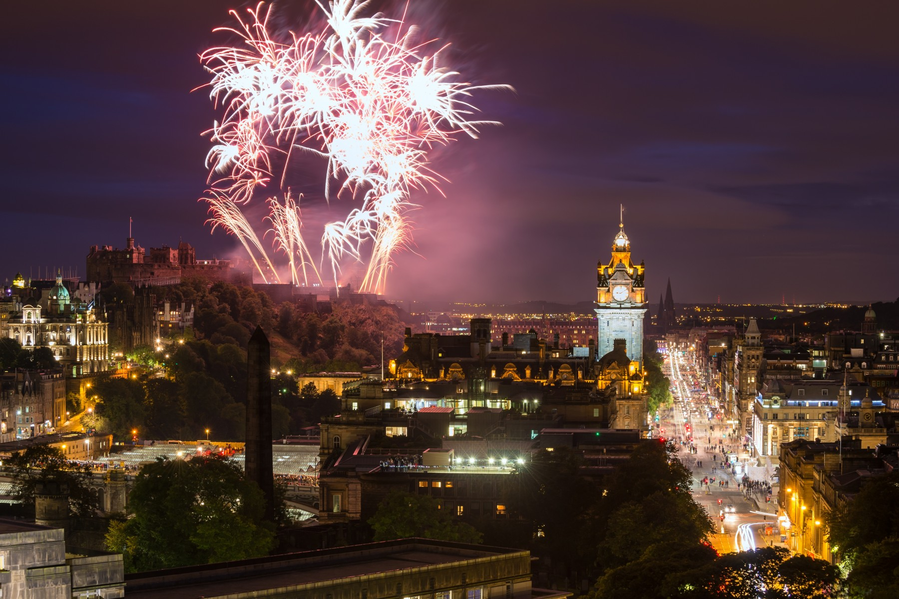 New Years Eve in Edinburgh, Scotland