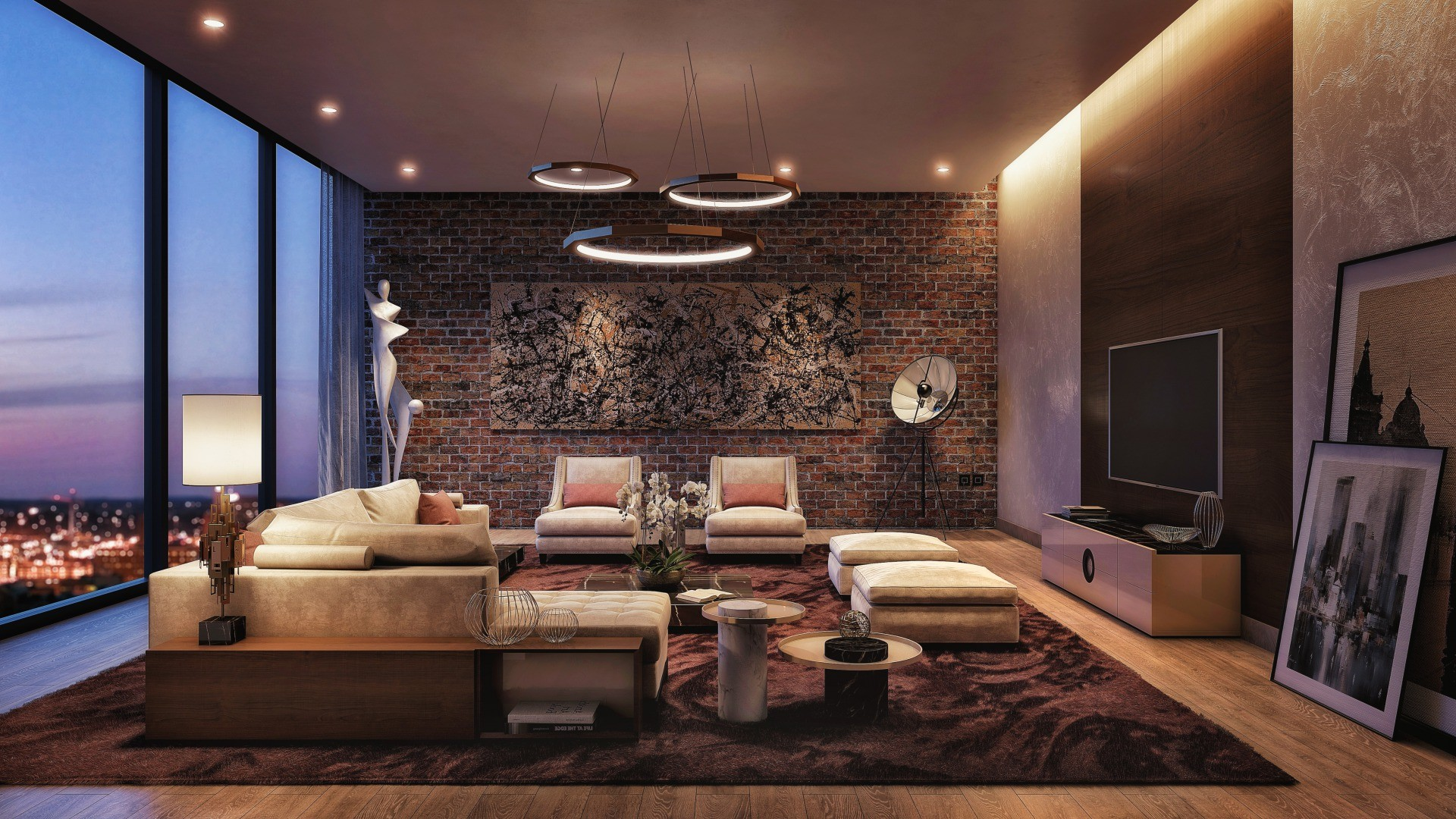 s_Chic city style living room