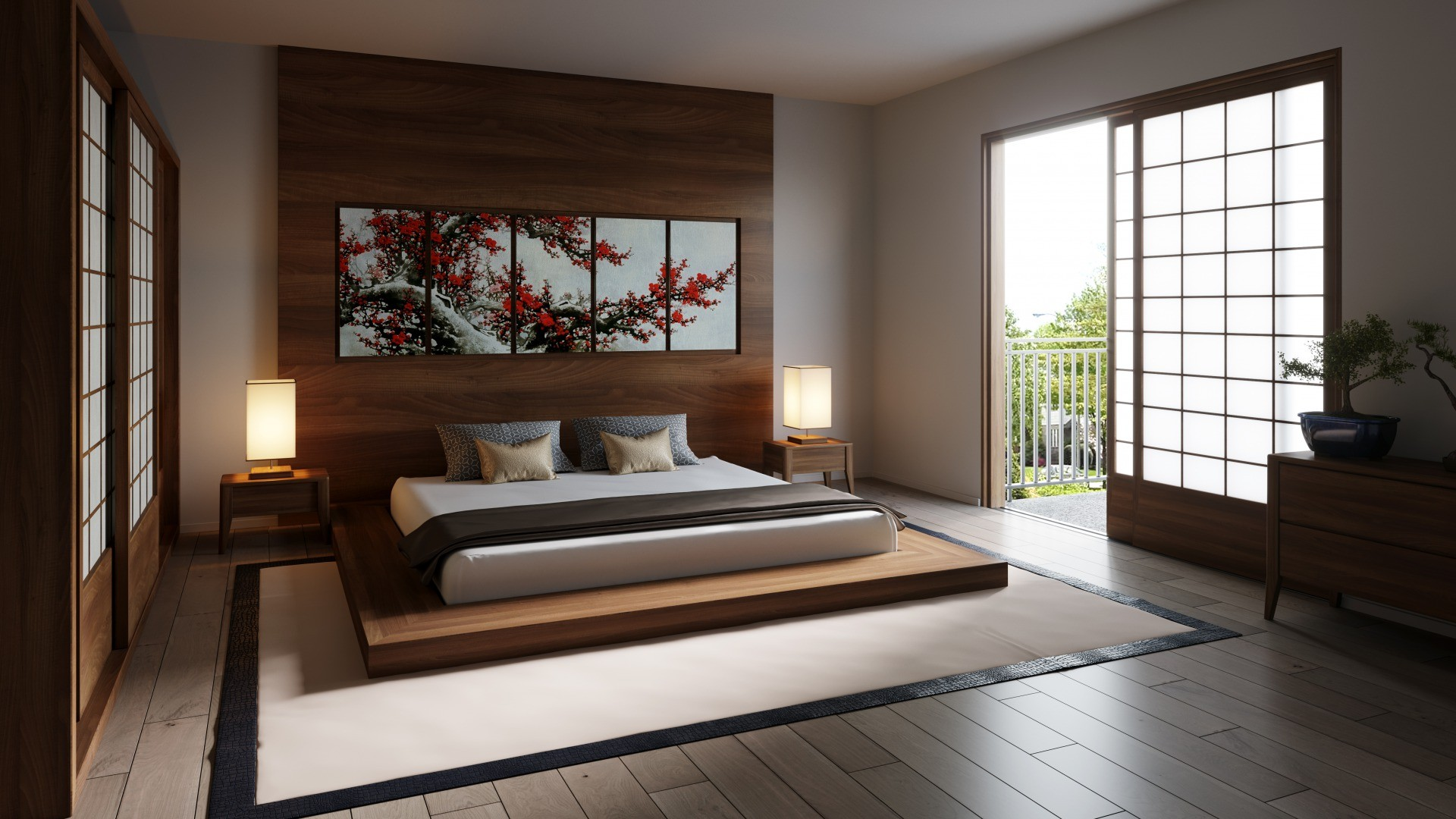 s_Japanese Zen bedroom