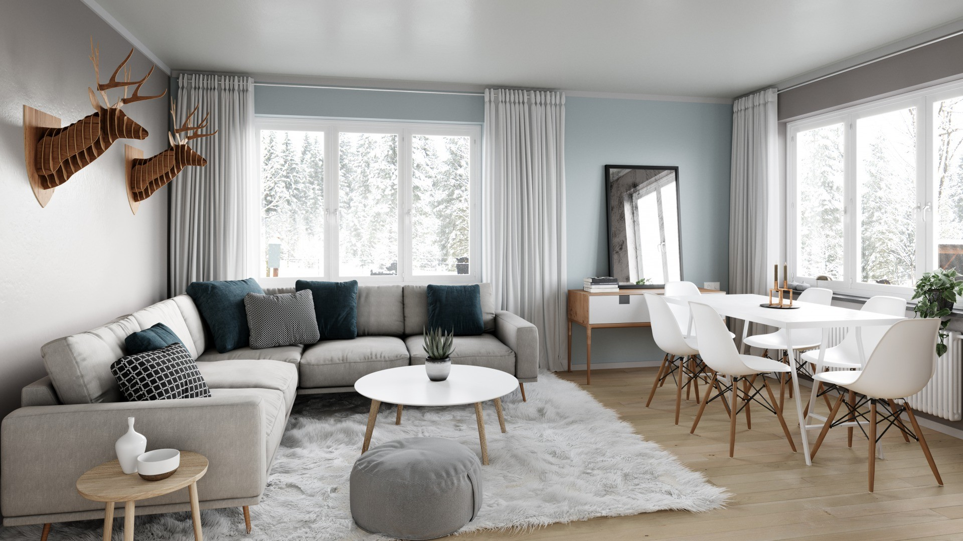 s_Scandinavian simplicity living room