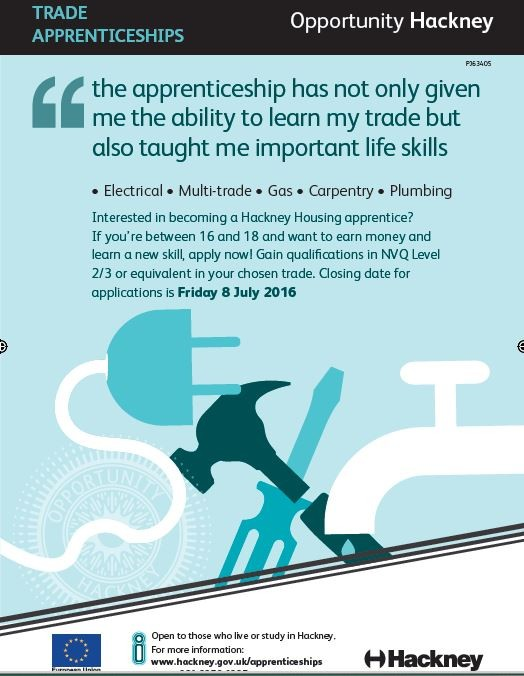 Trade apprenticeships open to candidates - apply today