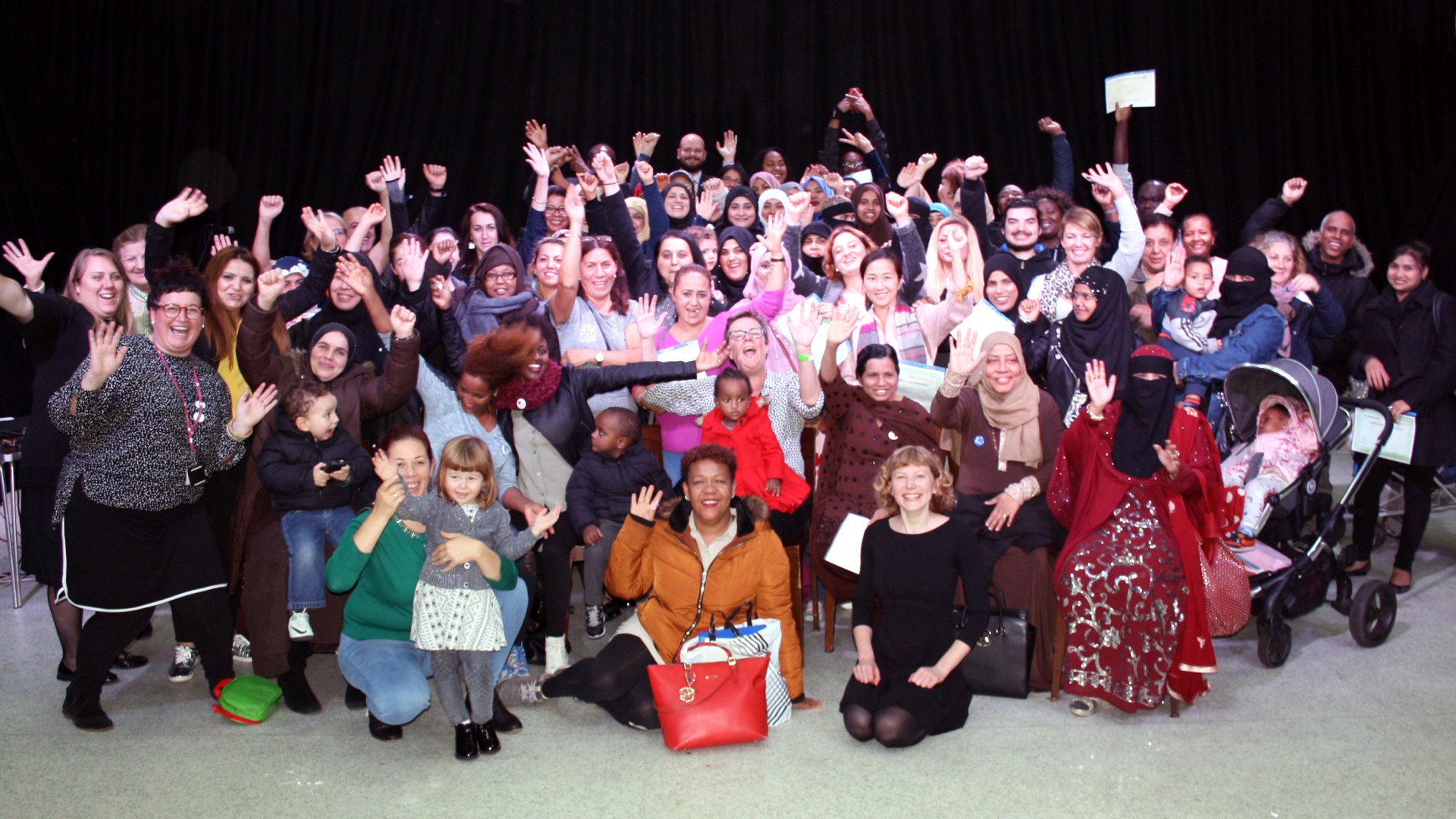 Group photo from ESOL award ceremony 2