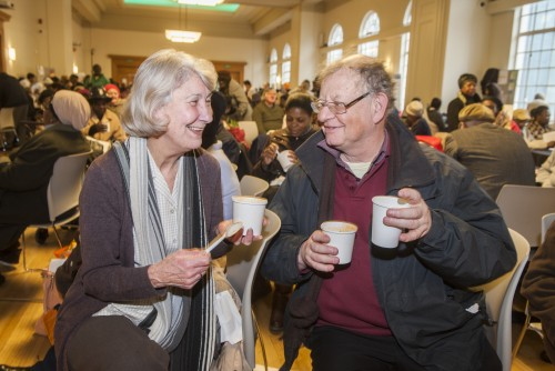 Residents at Hackney Homes 2014 Winter Warmer event