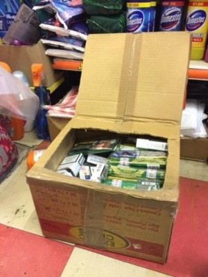 A haul of illegal tobacco found at Hoxton Supermarket earlier this year
