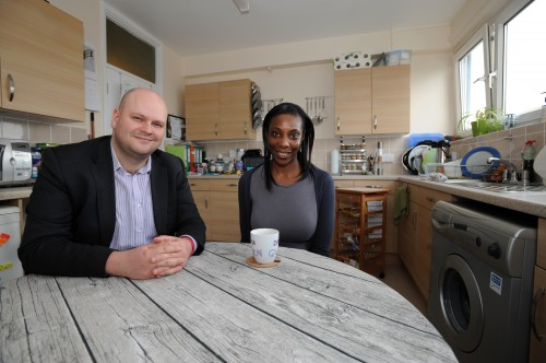 Cllr Philip Glanville and Hackney Homes tenant Lisa Ogun.jpg