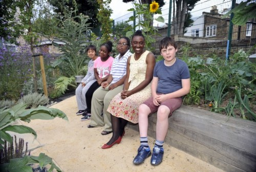 Cllr Anntoinette Bramble meets pupils at The Garden school