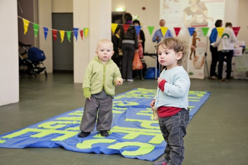 Children take part in the Real Nappy Fashion Show
