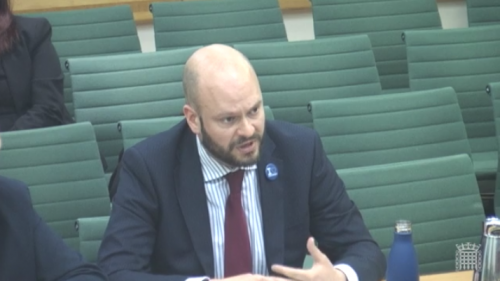 Mayor of Hackney, Philip Glanville at the Housing, Communities and Local Government Select Committee (Image Credit - parliament.uk)