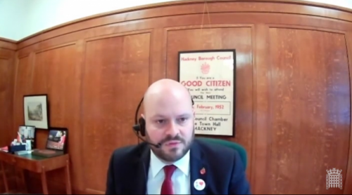 The Mayor appearing remotely at the Environmental Audit Committee