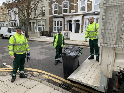 Waste crews have now completed the delivery of new wheelie bins