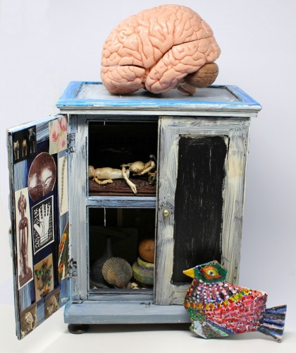 brain-cabinet is one of the artworks on display
