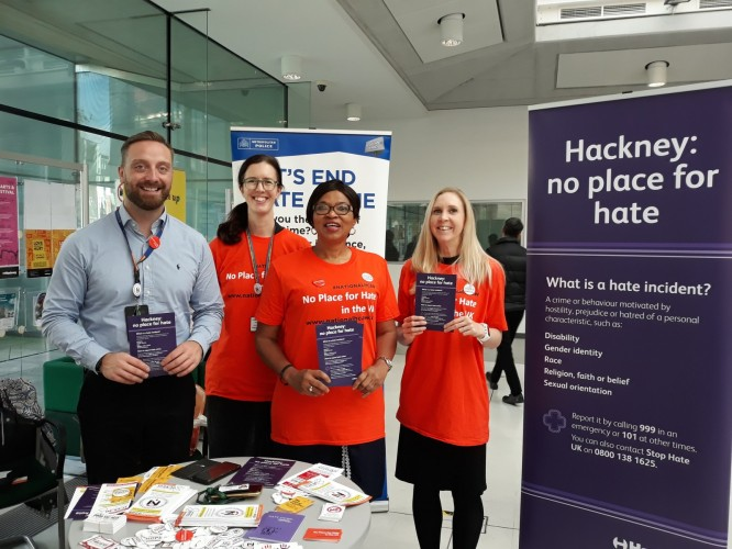 Hate Crime Awareness Stand