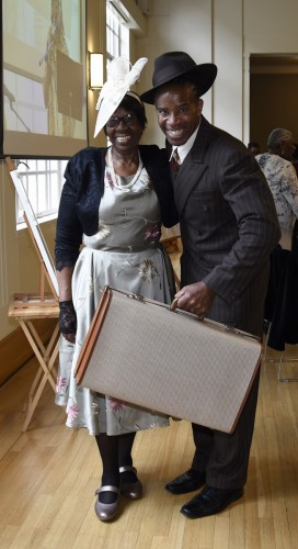 Hermal Wilson and her son Weininger Irwin dress up in Windrush clothes