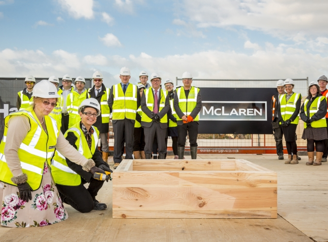 New ickburgh school topping out image