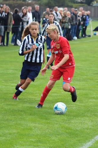Nicole Caicado 13 SHOWING HER SKILLS ON THE PITCH