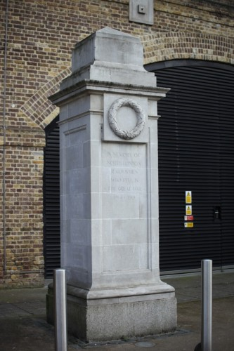 North London Railwaymen war memorial Hoxton Station