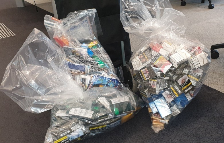 The illegal tobacco haul (Credit Hackney Council)