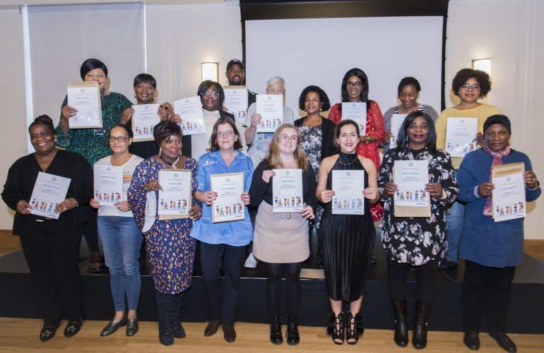 The winners and care workers shortlisted for the Hackney Care Worker awards this year