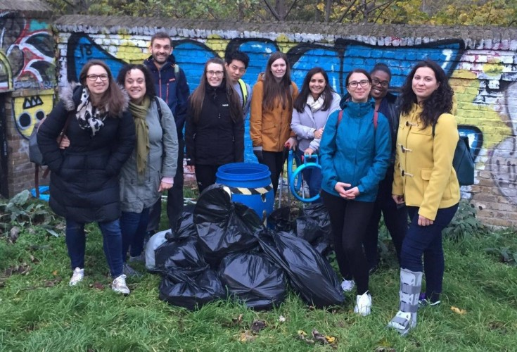 Volunteers from Plastic Free Hackney on a Lea River litter pick last year (Credit Plastic Free Hackney)