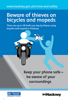 moped phone crime poster