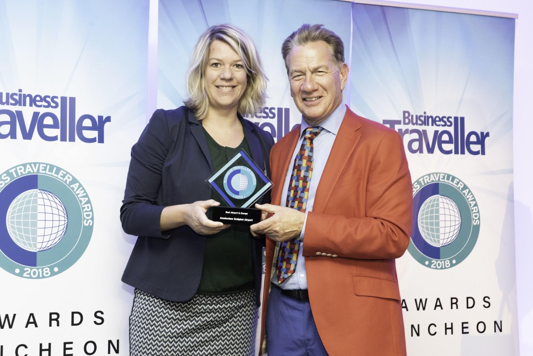 Uitreiking van de Best Airport Award (Beeld: Business Traveller)