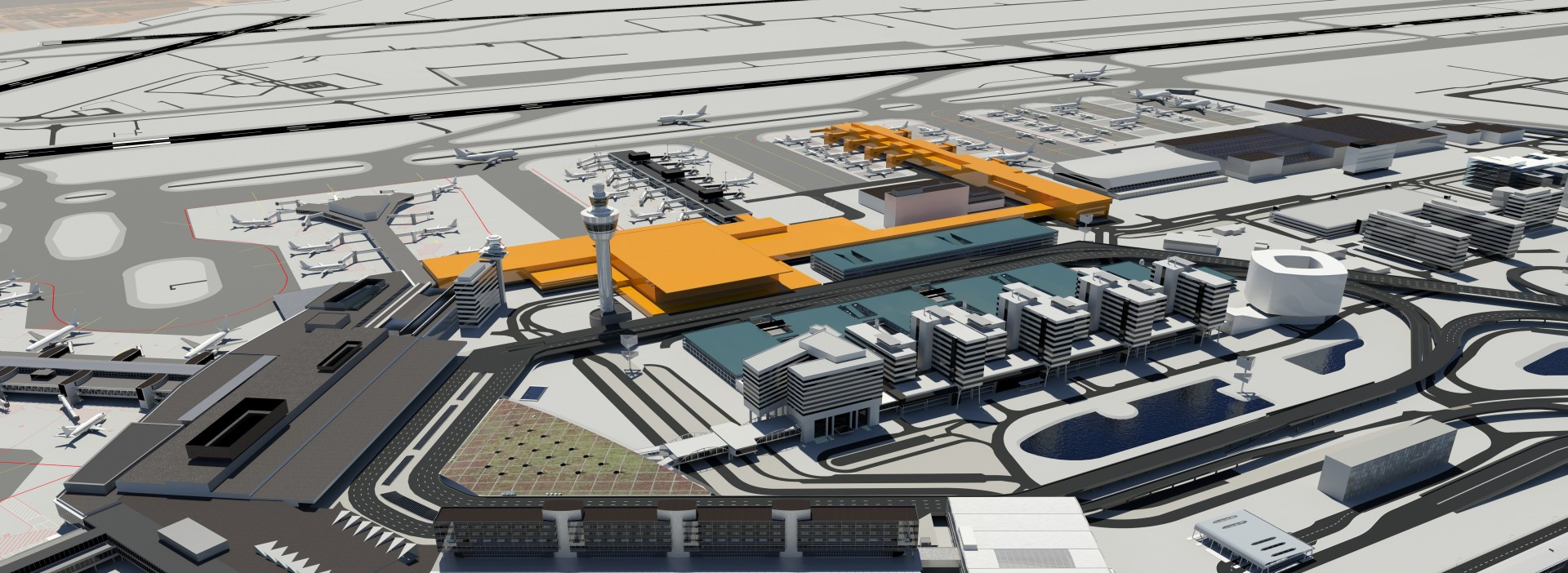 Schiphol airport expansion entrusted to Aecom 13