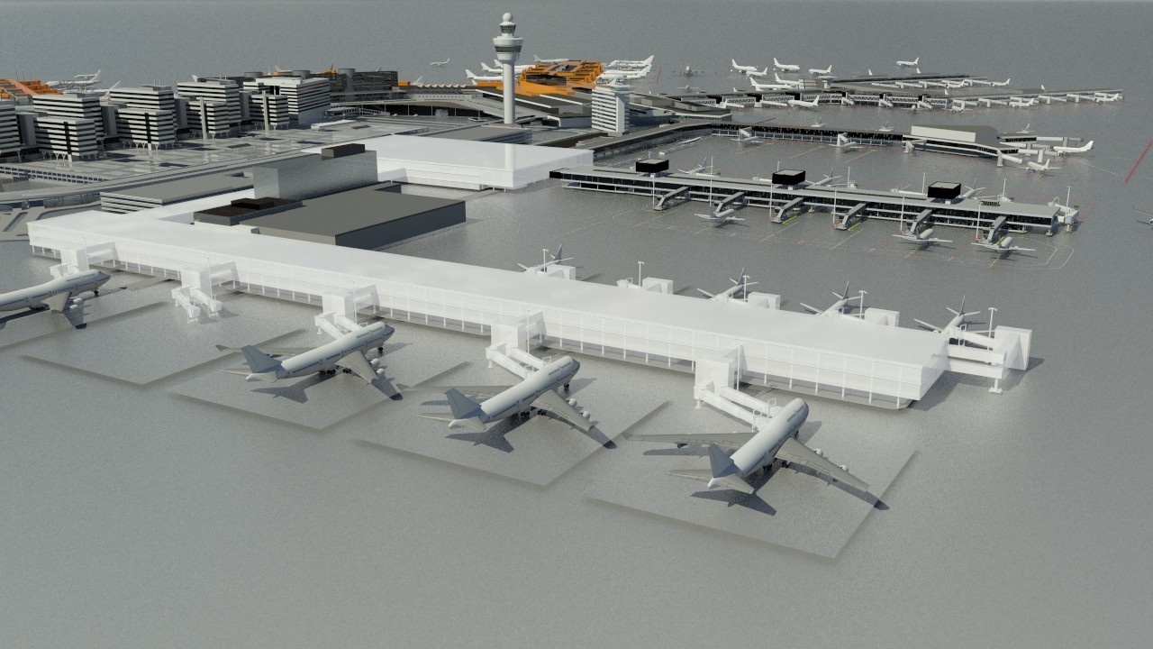 Artist impression new pier and terminal
