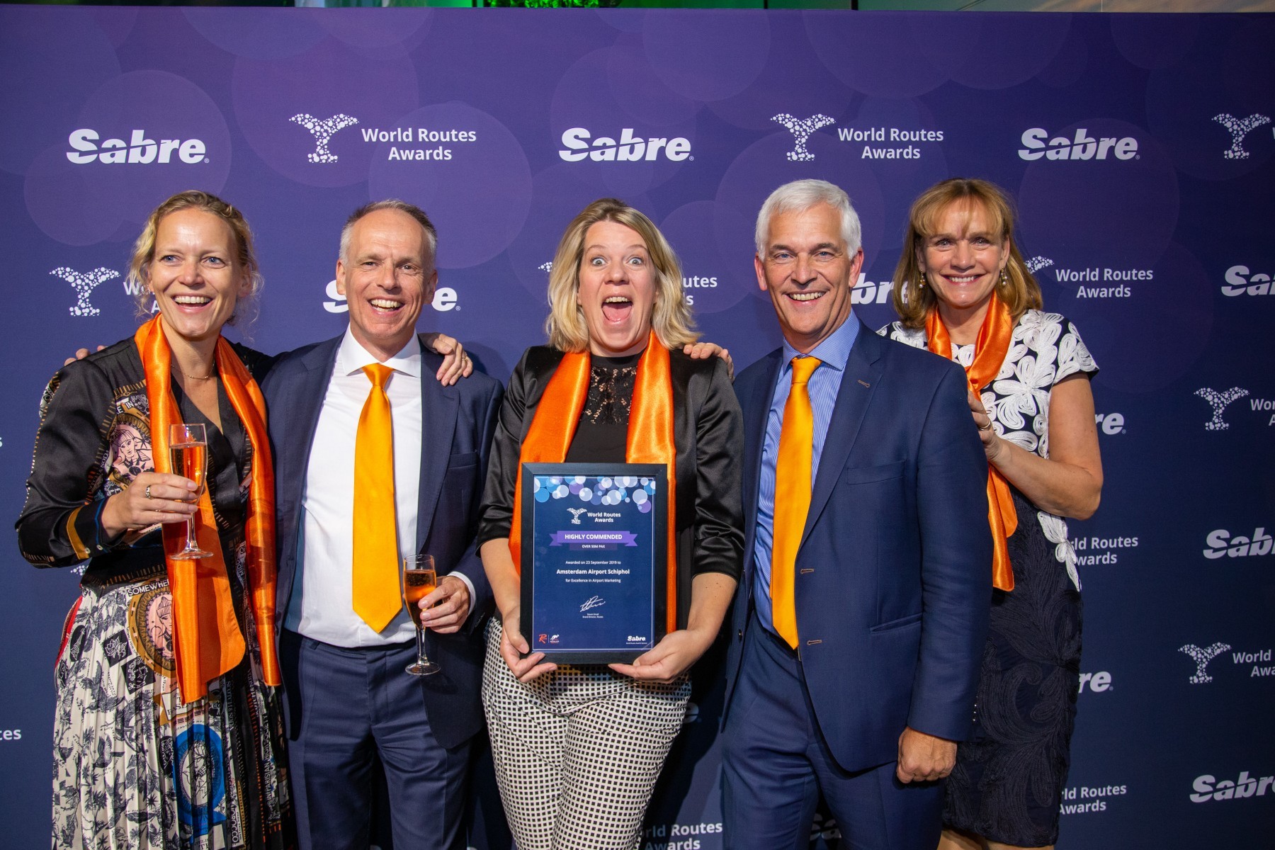 Schiphol takes prizes at 2019 World Routes Awards