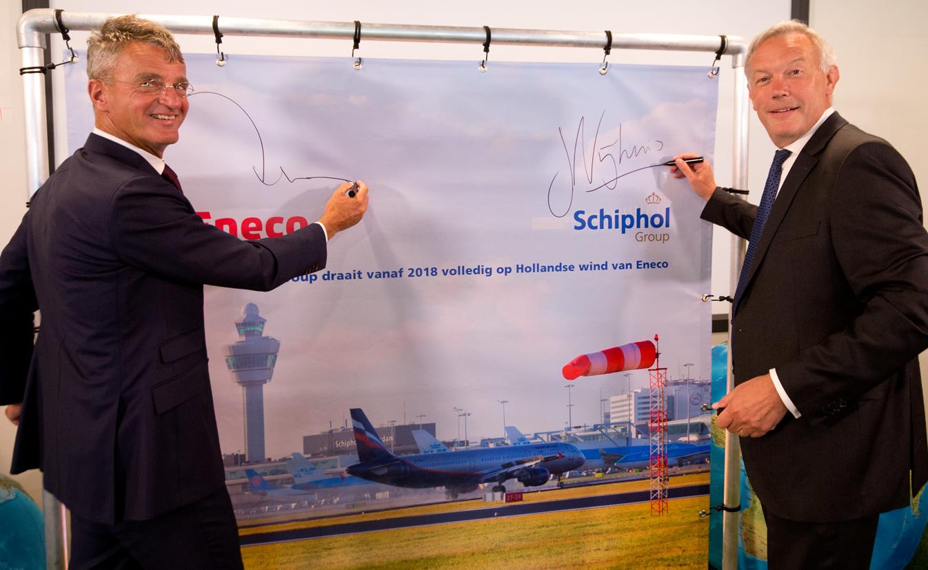 Ondertekening Eneco - Schiphol